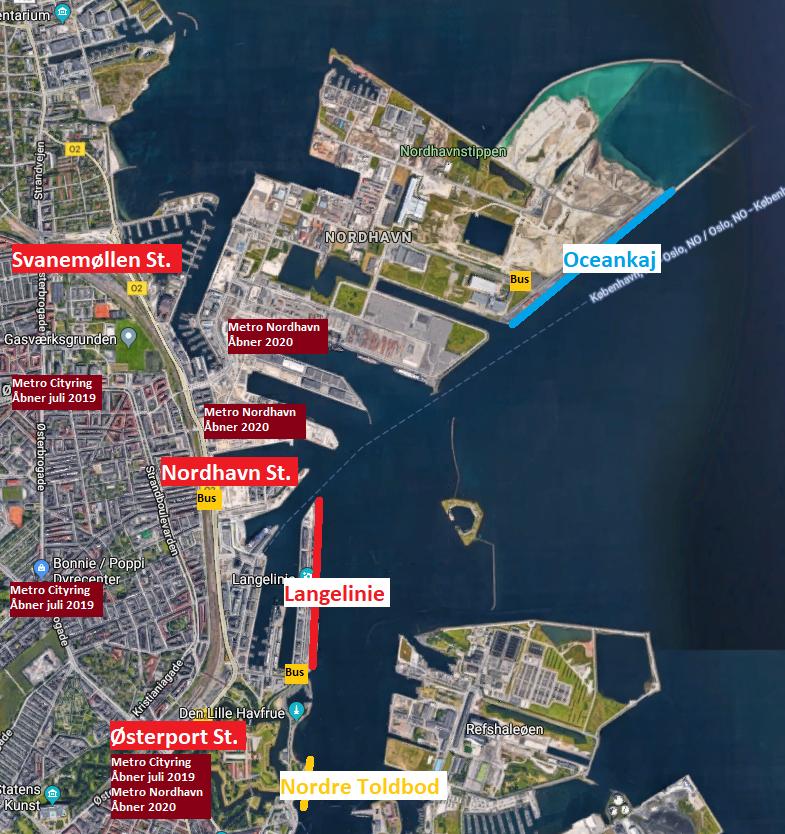 Kort: Københavns Havn