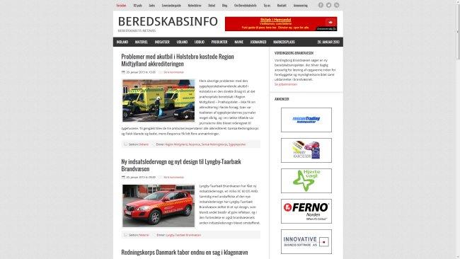 Beredskabsinfo Nyheder om brand, redning mm.