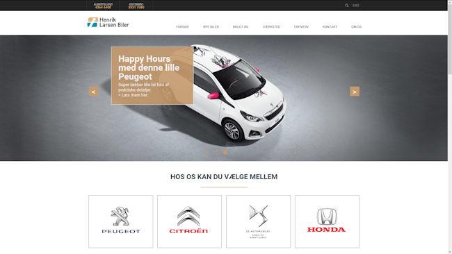 Henrik Larsen Biler Citroën – Peugeot – Honda – DS