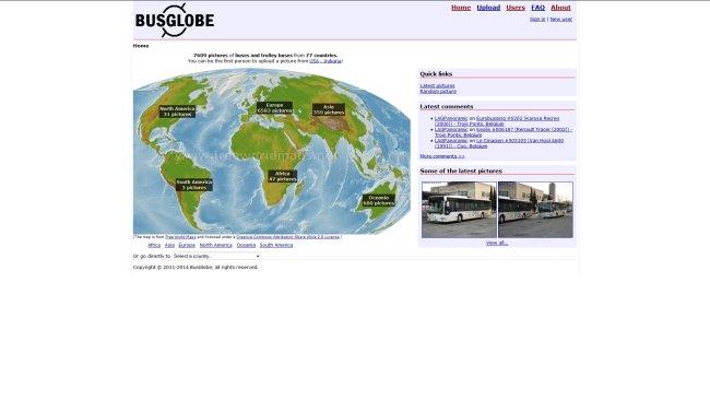 BusGlobe Busbilleder fra hele verden