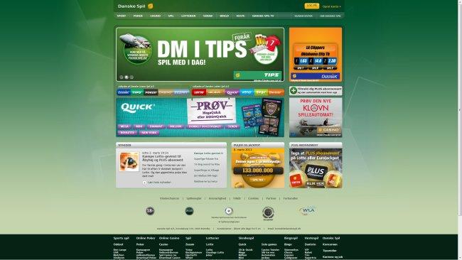 Danske Spil Lotto, tips, oddset m.m.