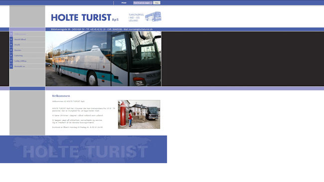 Holte Turist Turistbuskørsel. (Larsenbus).